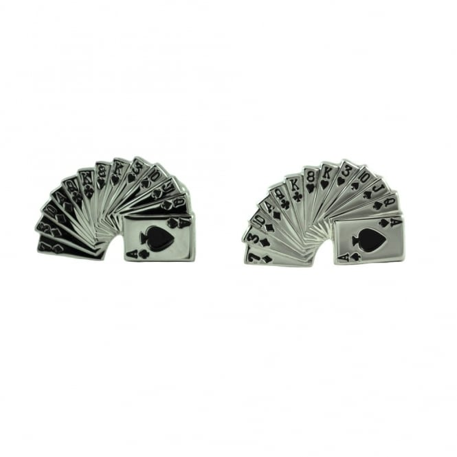 Spiral Playing Cards Novelty Cufflinks