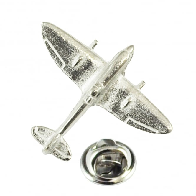 Spitfire Fighter Aircraft Plane Pewter English Made Lapel Pin Badge