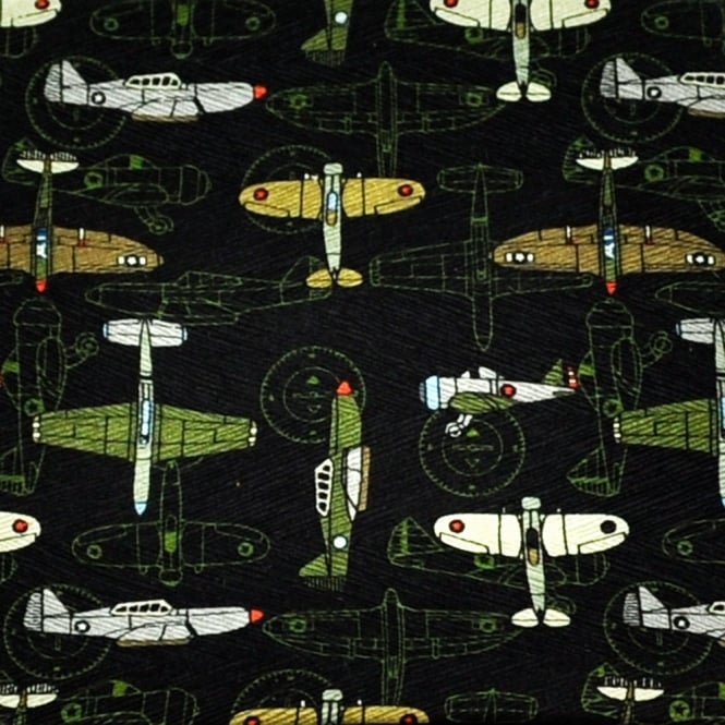 Spitfire Planes Silk Novelty Pocket Square Handkerchief