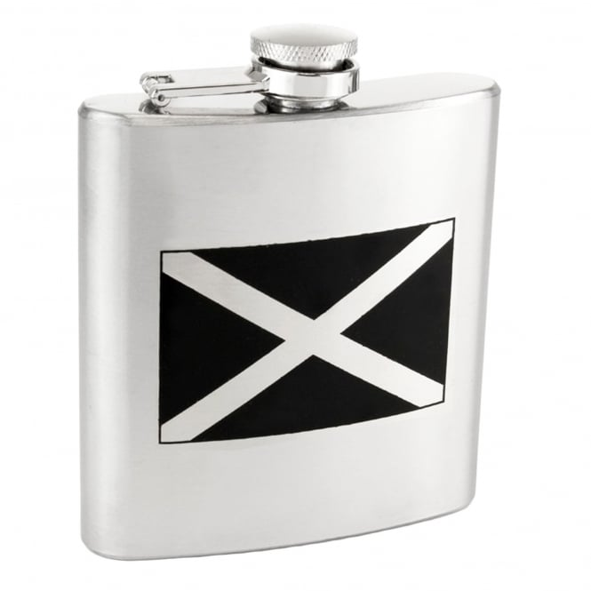 St Andrew's Cross Saltaire Scotland Flag 6oz Stainless Steel Hip Flask