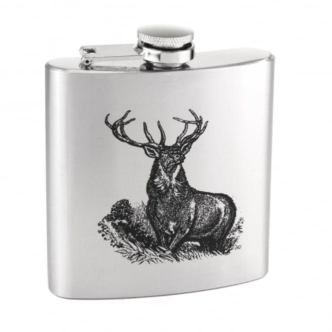 Stag 6oz Stainless Steel Hip Flask
