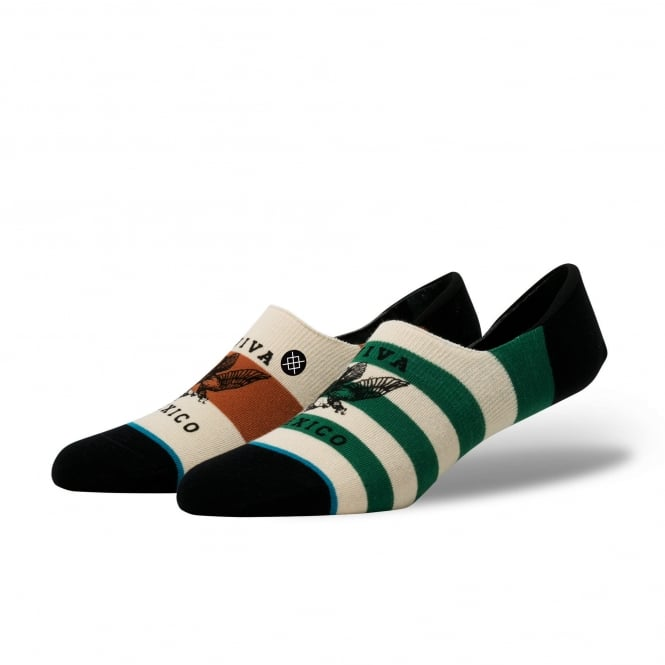 Stance Hecho Low Ivory, Green & Brown Viva Mexico Invisible Socks
