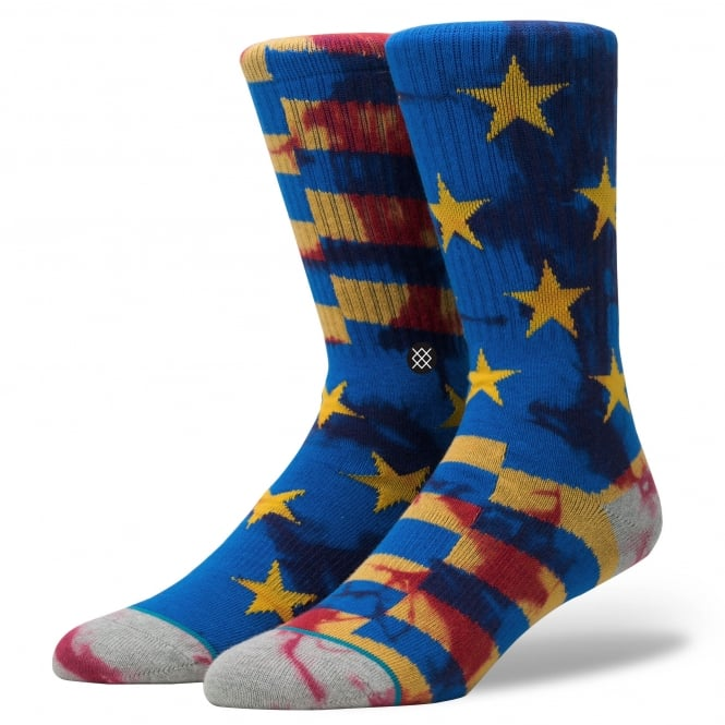 Stance Sidereal Yellow, Blue & Red Stars & Stripes Patterned Socks