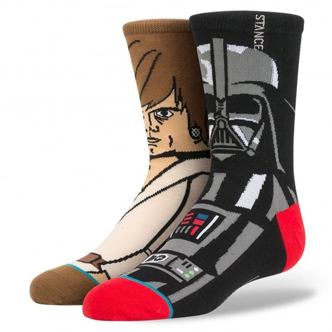 Stance Star Wars 'Force' Socks featuring Luke Skywalker and Darth Vader