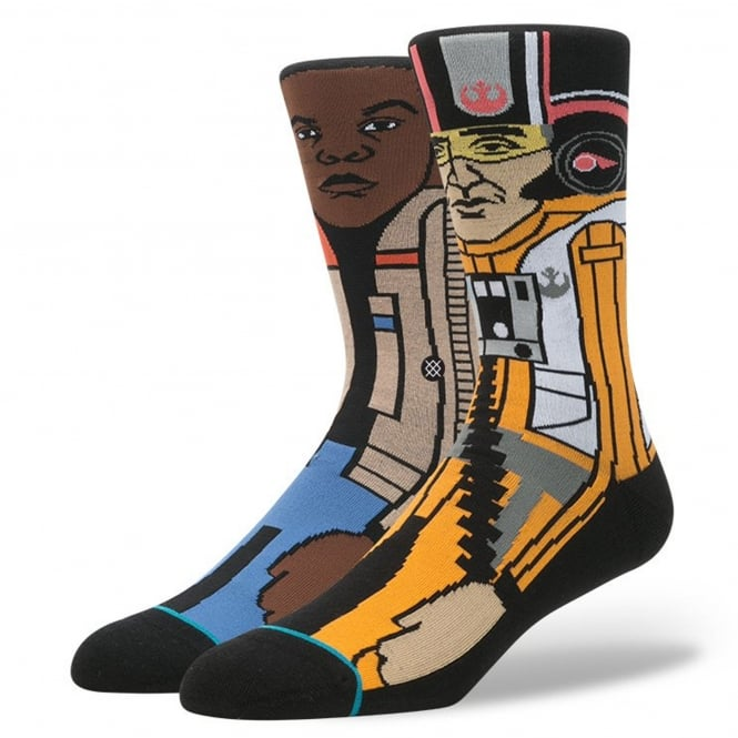 Stance Star Wars 'The Resistance 2' Socks featuring Finn and Poe Dameron
