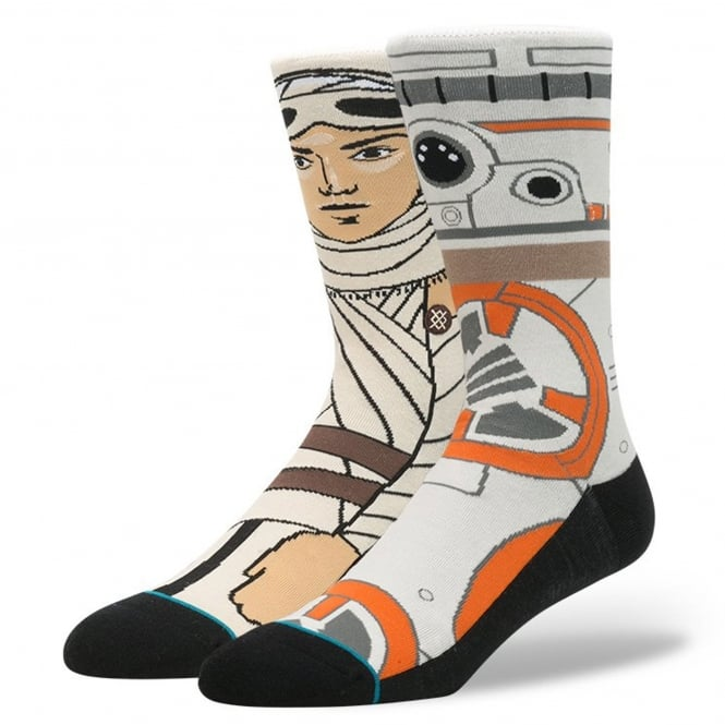 Stance Star Wars 'The Resistance' Socks featuring Rey and BB8