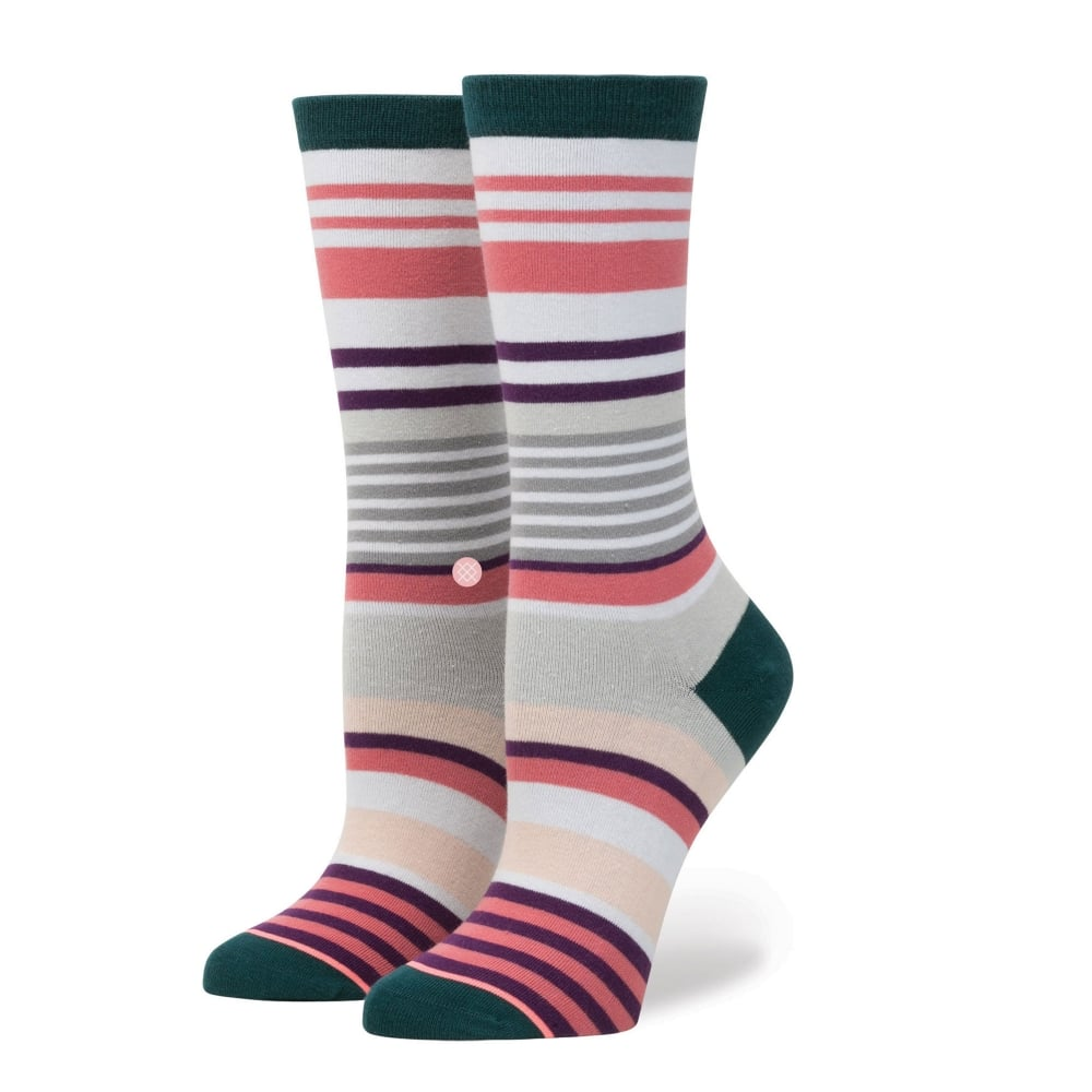 7a6b76f35 Stance Stripe Blossom Green, Pink, White, Grey & Purple Striped Women's  Socks Size 3-8.5 from Ties Planet UK