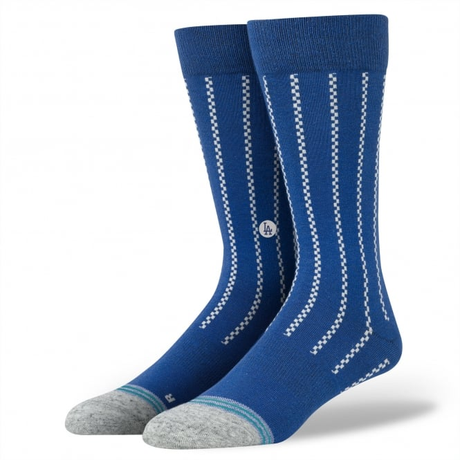 Stance Vintage Dodgers Royal Blue & White Patterned Socks Size 8.5-11.5