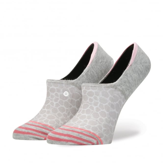 Stance Zen Circle Grey, Beige & Pink Patterned Invisible Women's Socks