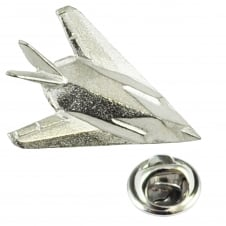 Stealth Fighter Aircraft Pewter English Made Lapel Pin Badge