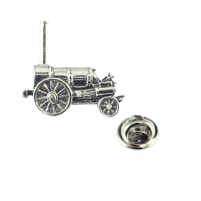 Stephenson's Rocket Steam Train Pewter Lapel Pin Badge