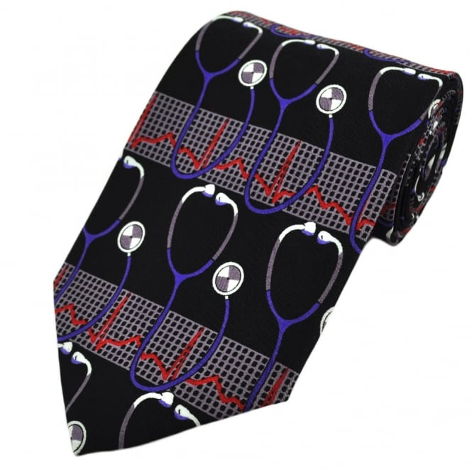 Stethoscopes & Monitor Novelty Tie