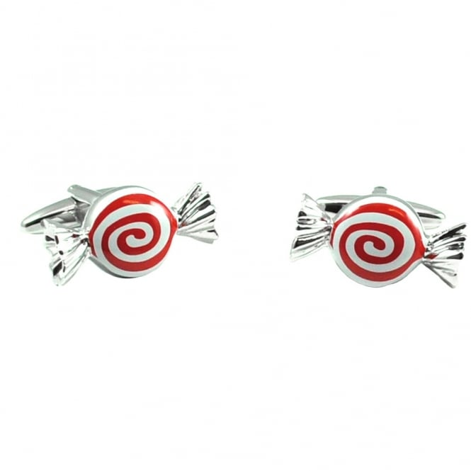 Strawberries & Cream Sweets Novelty Cufflinks