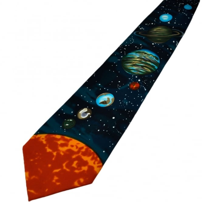 Sun And Planets Novelty Tie