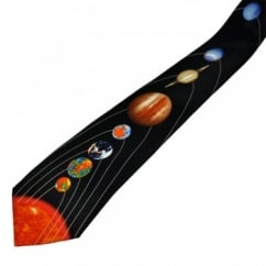 Sun & Planets Of The Solar System Men's Novelty Tie
