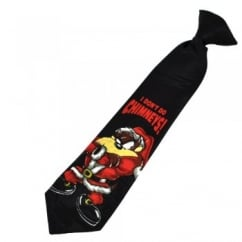 Taz 'I Don't Do Chimneys' Clip-On Christmas Boys Tie (11 Inch)