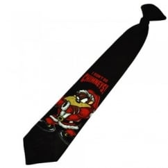Taz 'I Don't Do Chimneys' Clip-On Christmas Boys Tie (14 Inch)