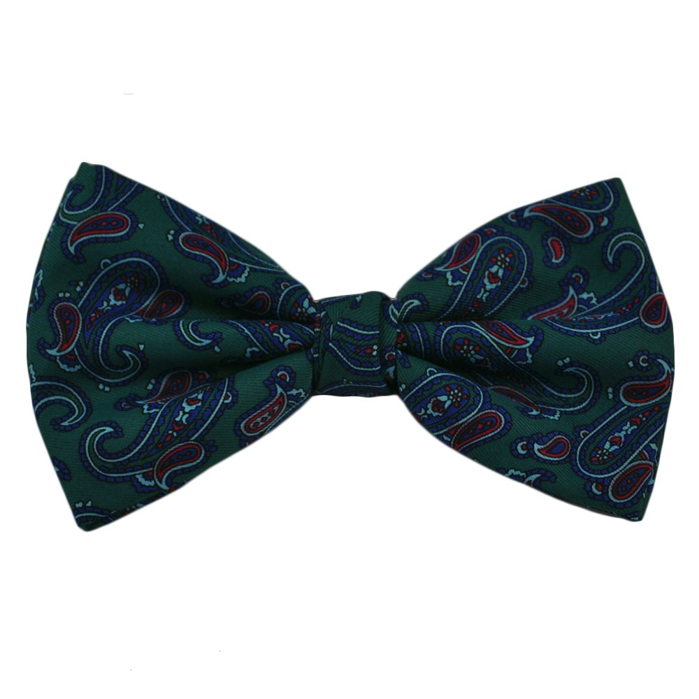 teal green blue paisley bow tie from ties planet uk