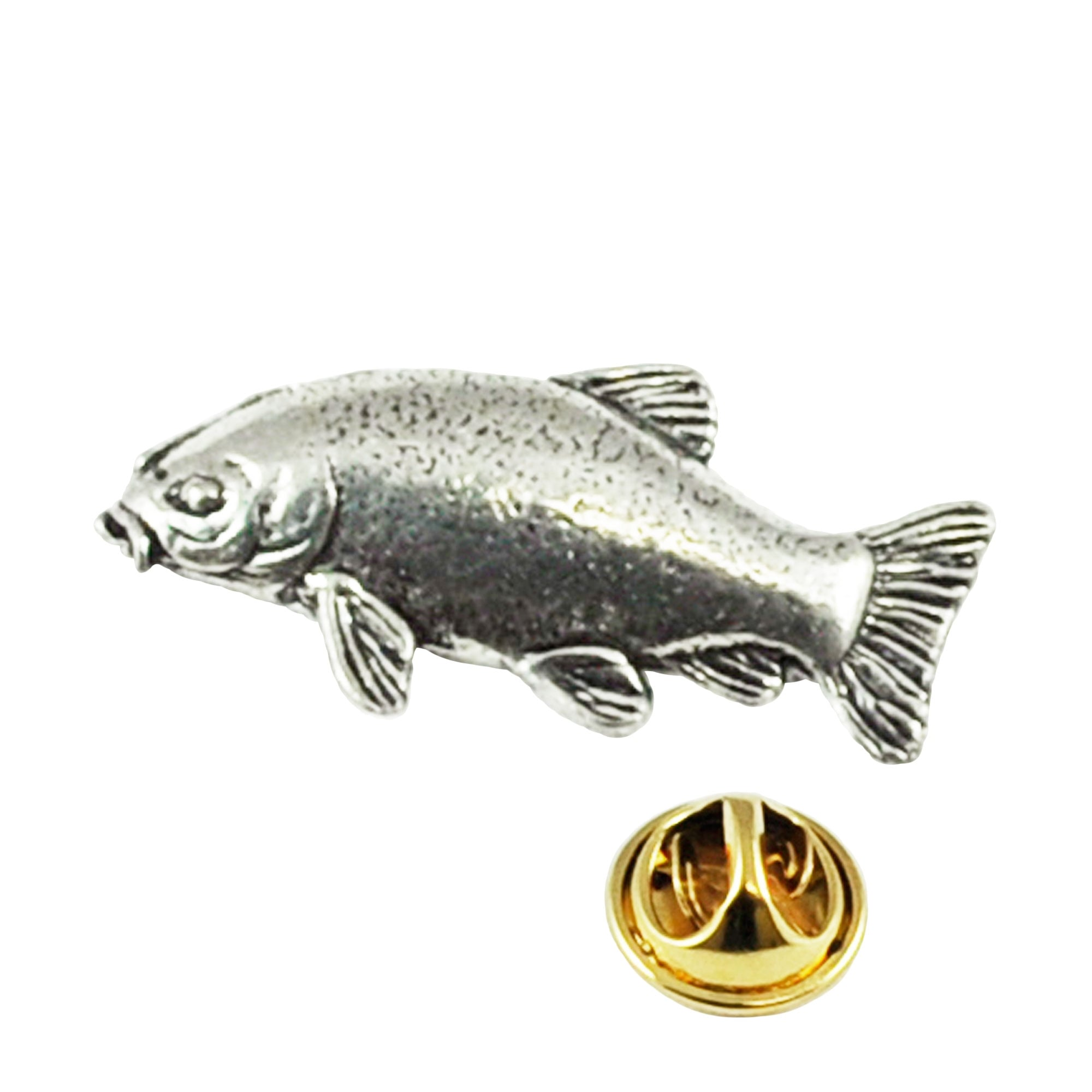 Lapel Pin Badge Fishing Pin Badge Tie Pin Leaping Salmon Fish