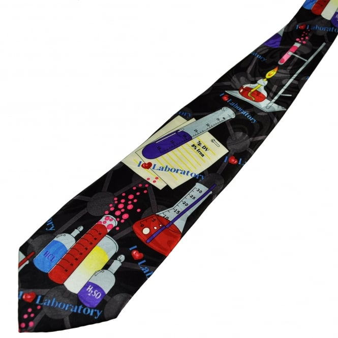 Test Tubes Chemistry Science Novelty Tie