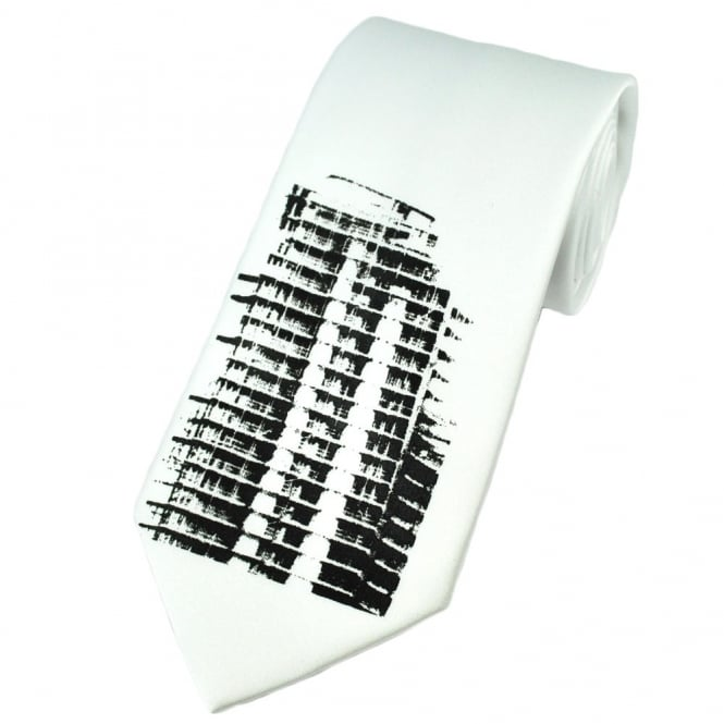 "The ""Dalek"" Skyscraper Building- Leeds Art-Limited Edition Tie"