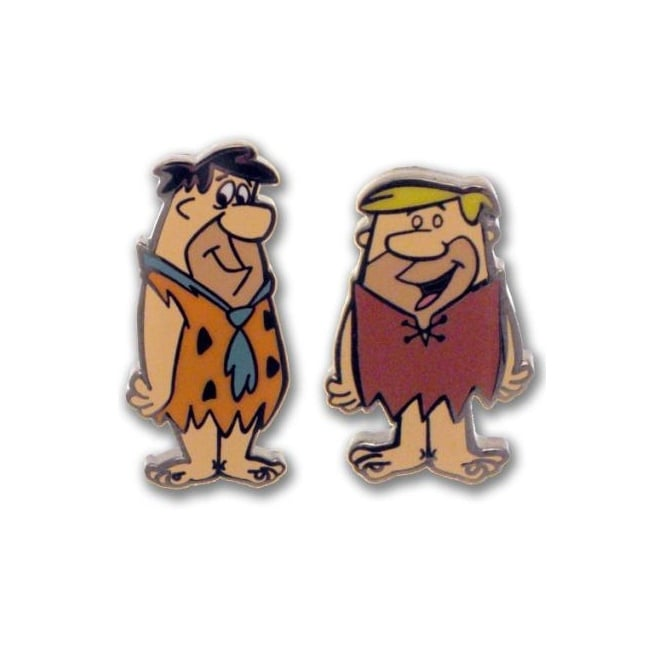 The Flintstones Cufflinks - Fred & Barney