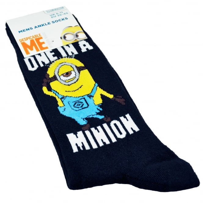 The Minions - One In A Minion Navy Blue Men's Socks