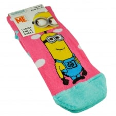 The Minions - Pink & Turquoise Women's Socks