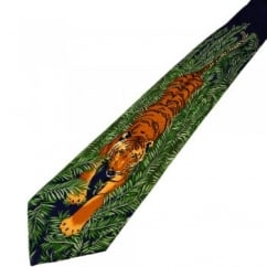 Tiger Prowling Novelty Tie
