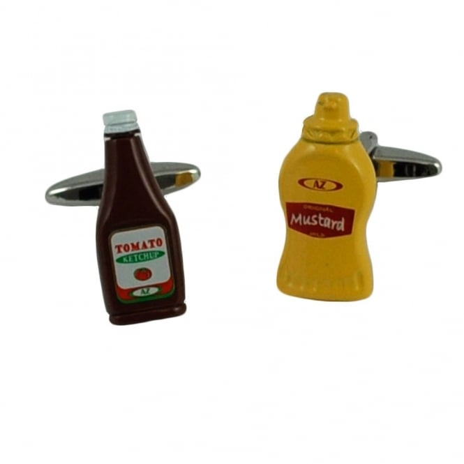 Tomato Ketchup & Mustard Novelty Cufflinks