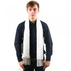 Tootal Ivory Fringed Silk Men's Evening Scarf