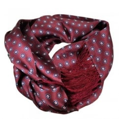 Tootal MOD Roundel Wine Red Men's Silk Scarf