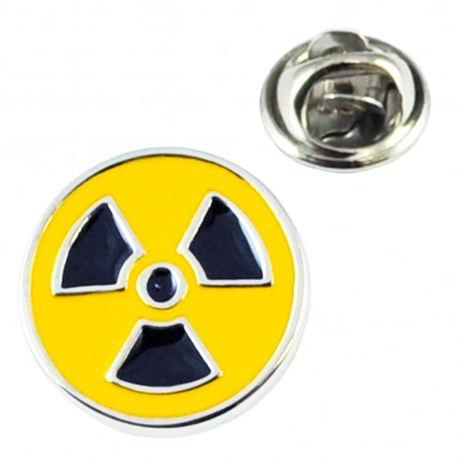 Toxic Radioactive Symbol Lapel Pin Badge