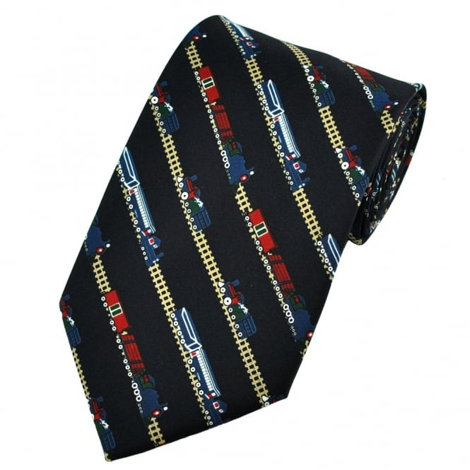 Trains with Carriages on Diagonal Tracks Novelty Tie