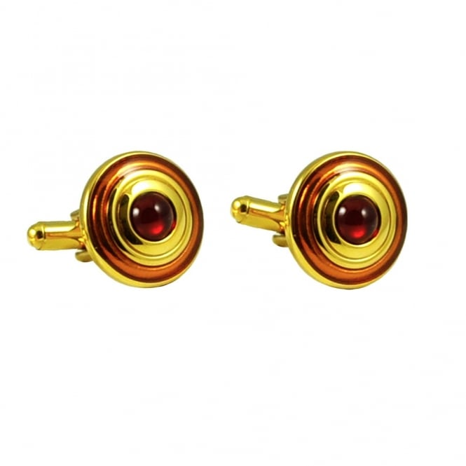 Transcendence Gold & Red Fashion Cufflinks