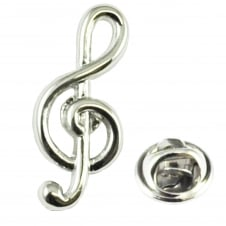 Treble Clef Lapel Pin Badge