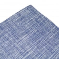 Tresanti Blue with White Edge Linen Pocket Square Handkerchief