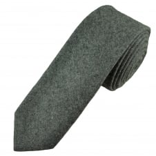 Tresanti Dark Grey Wool Blend 6cm Skinny Tie