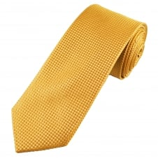Tresanti Gold Micro Check Designer Men's Silk Tie