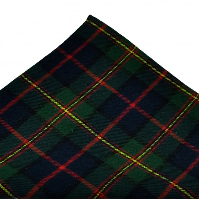 Tresanti Green, Navy Blue, Yellow & Red Checked Cotton Pocket Square Handkerchief