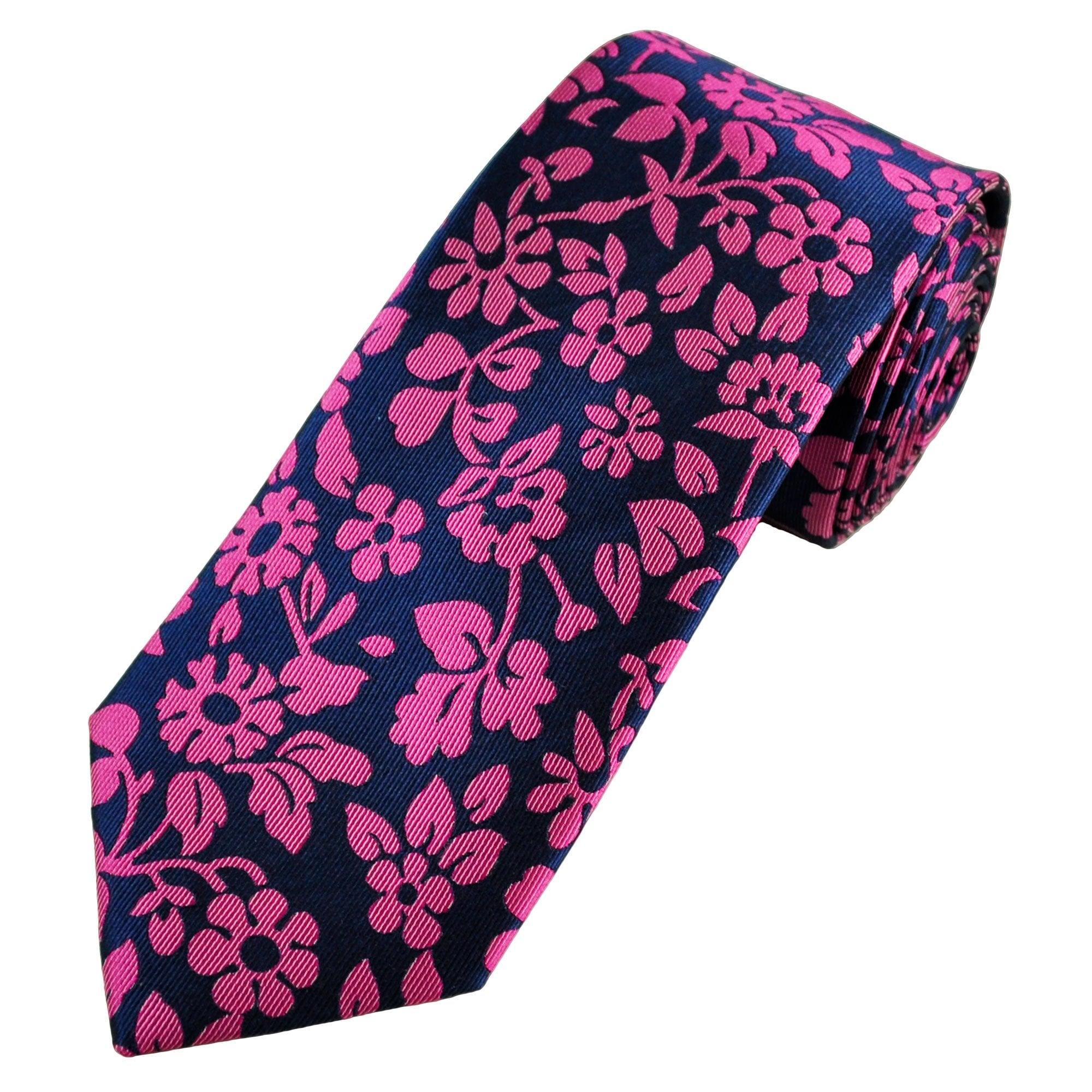 Pink Floral Designer Silk Men/'s Tie Necktie