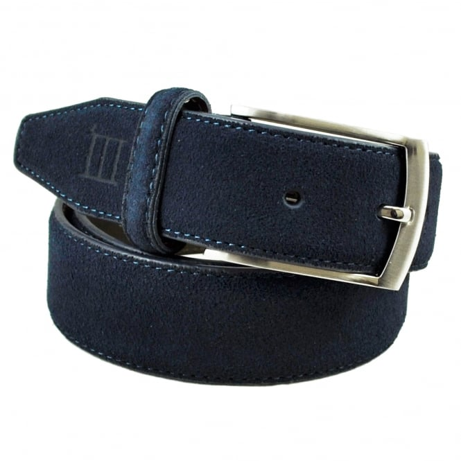 Tresanti Navy Blue Men's Suede Belt