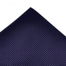 Tresanti Navy Blue & Purple Micro Checked Silk Pocket Square Handkerchief