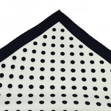 Tresanti Navy Blue & White Polka Dot Silk Pocket Square Handkerchief