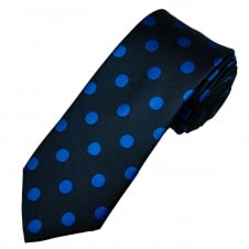 Tresanti Navy & Royal Blue Polka Dot Silk Men's Designer Tie