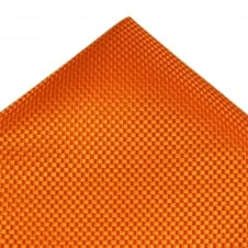 Tresanti Orange & Gold Micro Checked Silk Pocket Square Handkerchief