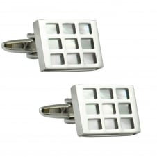 Tresanti Pink Tinged Mother Of Pearl Designer Cufflinks