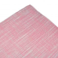 Tresanti Pink with White Linen Pocket Square Handkerchief