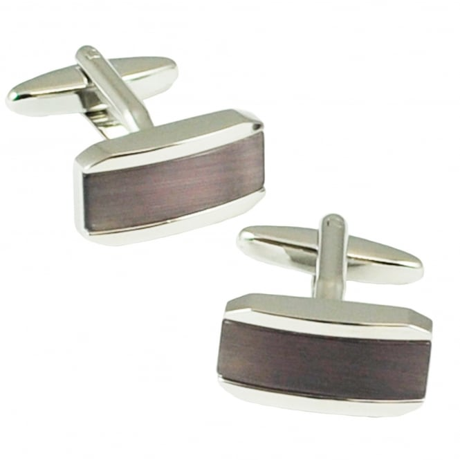 Tresanti Purple Cats Eye Designer Cufflinks