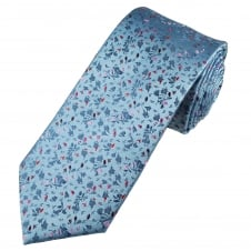 Tresanti Reale Sky Blue, Red, Pink & Burgundy Patterned Silk Designer Tie